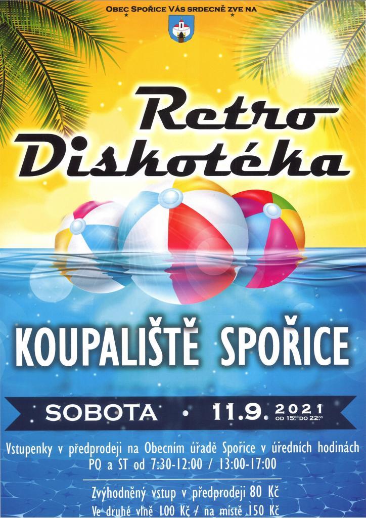 retro diskotéka Spořice